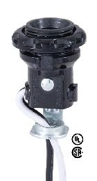 "External Thread E12 Candelabra Socket With 8"" Wire Leads"