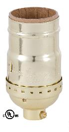 Full Keyless Medium Base E26 Socket With Brite Gilt Finish