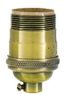 Heavy Turned Brass, Keyless Premium Lamp Sockets