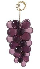"3"" Amethyst Glass Grape Cluster - Hand Made"