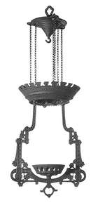 Lomax Replica, Cast Iron Hanging Lamp Frame