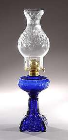 Small Princess Feather Pattern, Kerosene Lamp