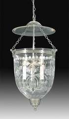 19th Century Hall Lantern with Floral Foliate design