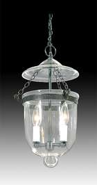 Tiny Hall Lantern with Clear Glass Dome