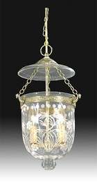 "Tiny Hall Lantern with ""Floral Foliate"" Cut Design"