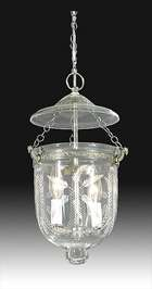 "Tiny Hall Lantern with ""Laurel Swags"" Cut Design"