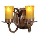 Cottage Style 2-Light Candle Sconce