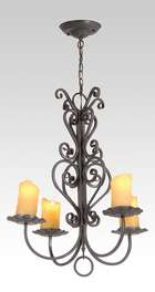 Iron 4-Light Hall or Entry Fixture