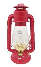 Dietz #20 Junior Lantern Red with Gold Trim